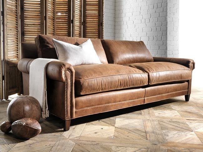 Bay Leather Republic Great Britain 3 Seat Sofa Cat F