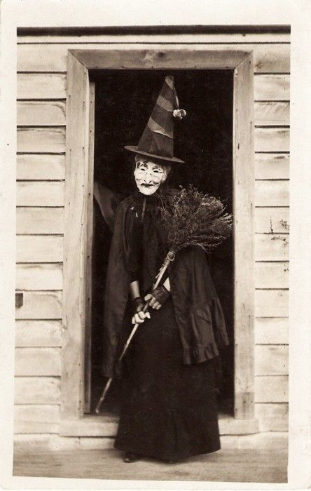 Vintage Witch In Doorway Photograph My Little Time Machine