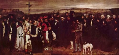 el entierro de Ornans. 1850.