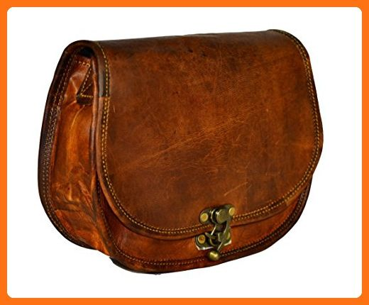 ALBORZ vintage Handmade Leather Sling bag for Women with antique lock size  7L x 9H x 3W inches - Crossbody bags ( Amazon Partner-Link) 5f7f4f8768c3a