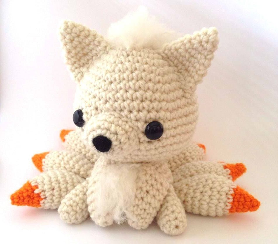 Ninetale pokemon plushie available for sale!   Fanart