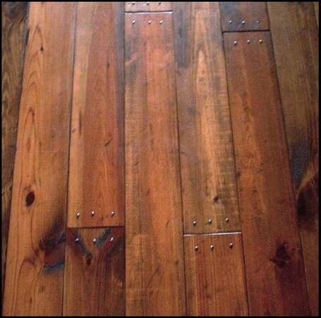 Gorgeous Southern Yellow Pine Floor With Distressing And Period Nails Southern Yellow Pine Floor Houzz Stained Darke Pine Wood Flooring Pine Floors Flooring