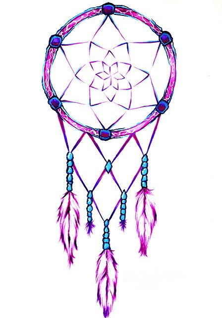 Pretty and simple drawn dreamcatcher personal for Dream catcher drawing easy