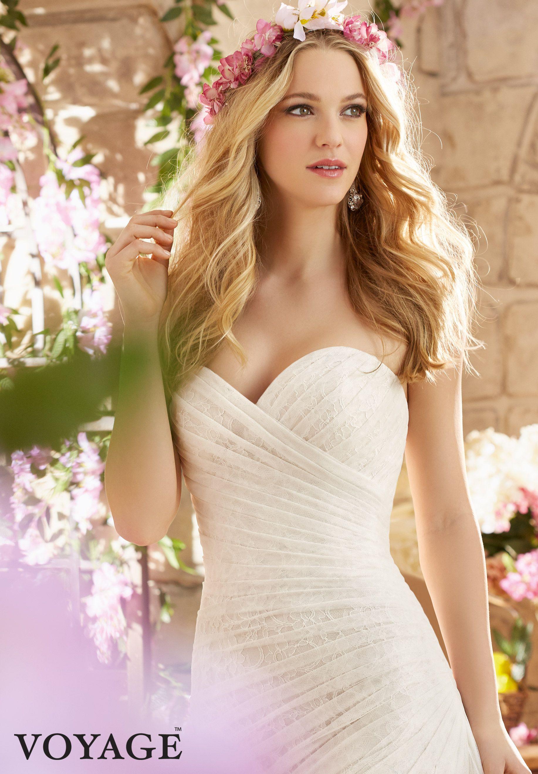 Wedding gowns dresses style asymmetrically draped soft