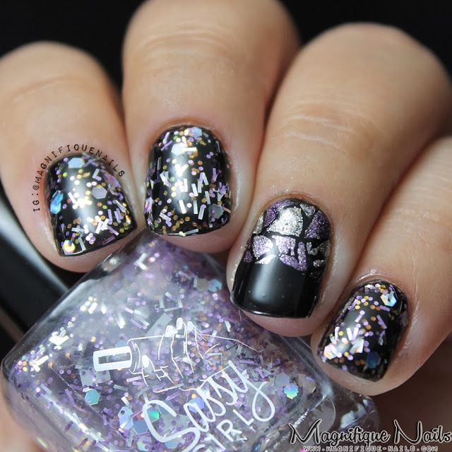 Sassy Girl Paint- Shattered Glass: http://sassygirlpaint.bigcartel.com/products #nails #glitternails #indie #indiepolish #nailswatches