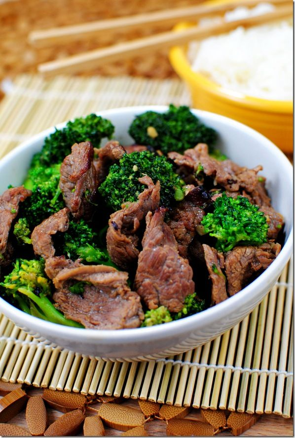 healthy Chinese beef & broccoli. I will most definitely be making this sometime.
