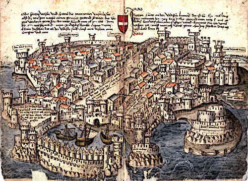 Rhodes Medieval City Cartography Historical Fantasy