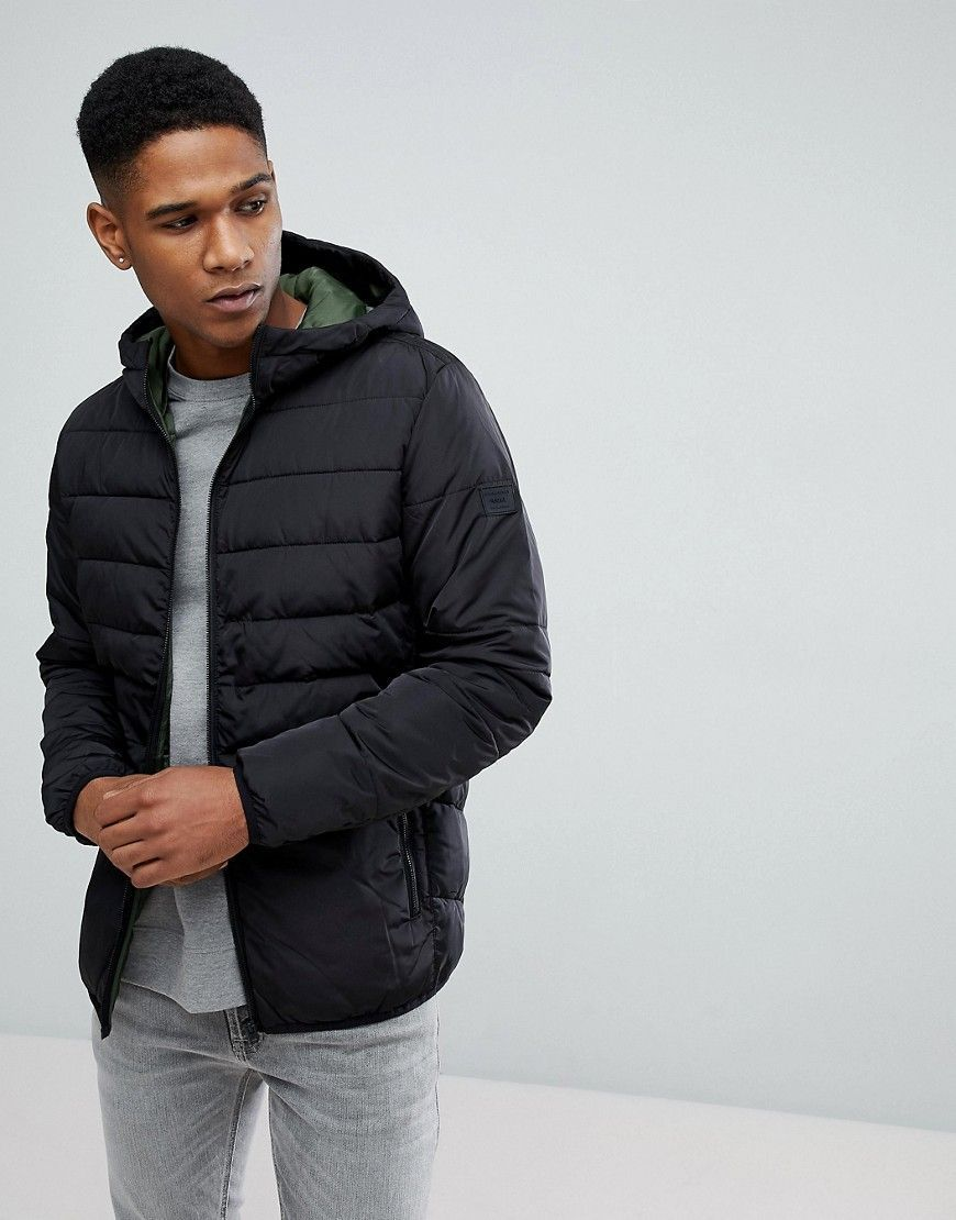 Jack Jones Padded Parka Black Outdoor Coats Parka Clothes