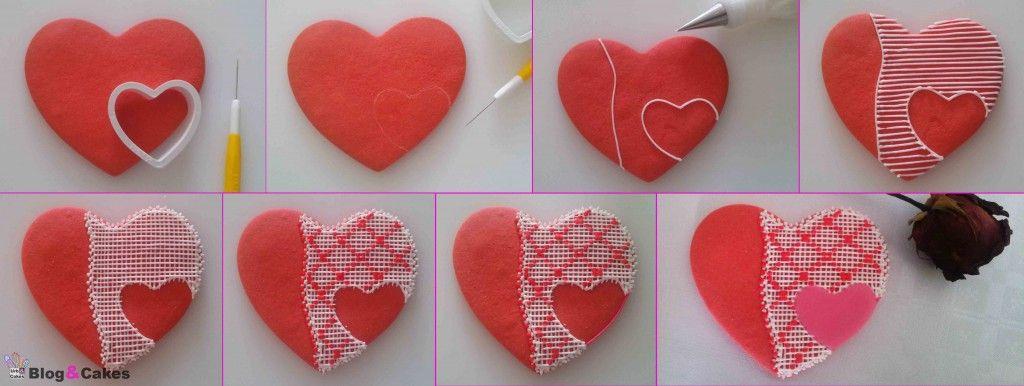 Galletas corazón para San Valentín | Blog&Cakes