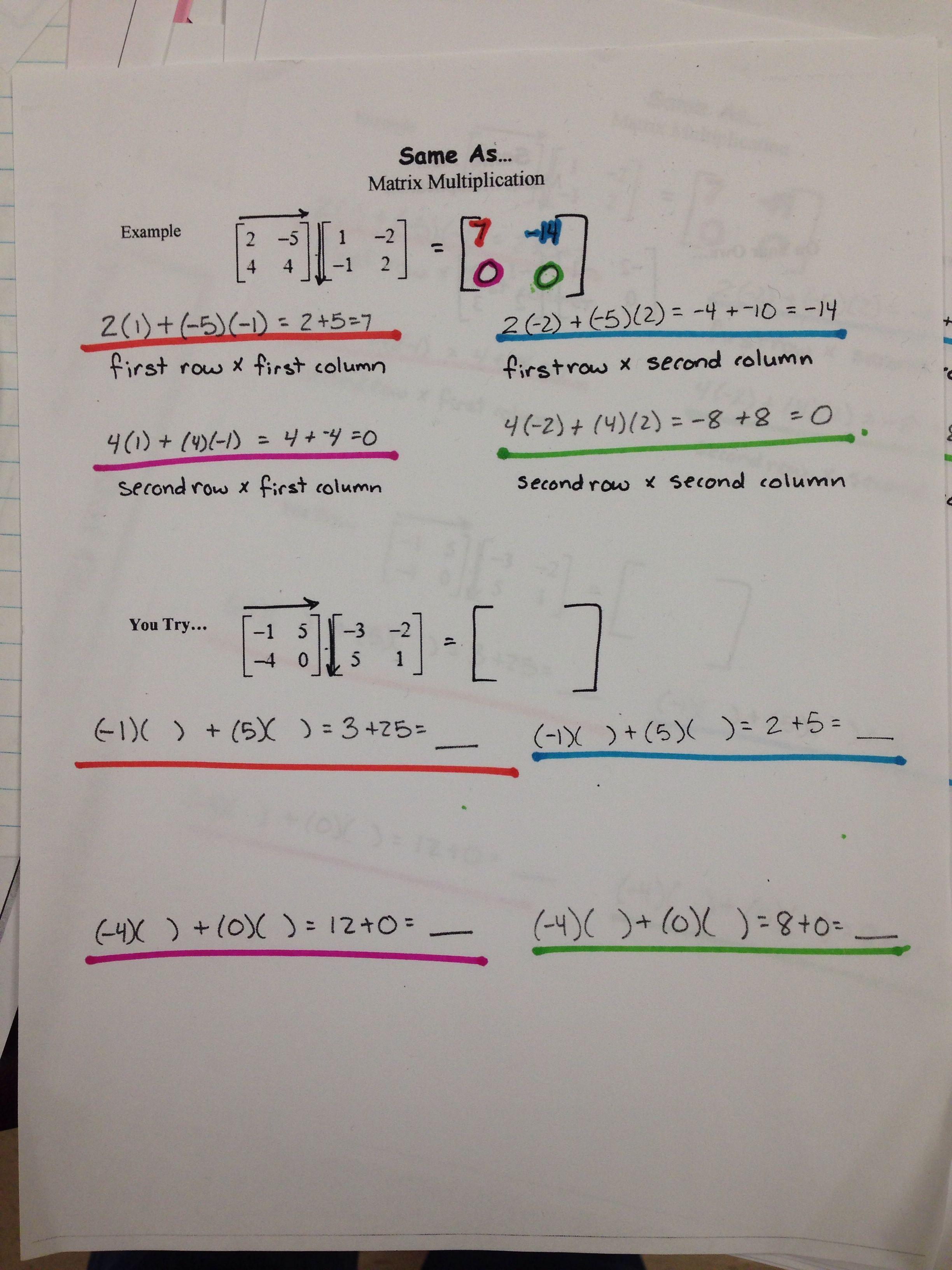 Matrix Multiplication 1 Of 2