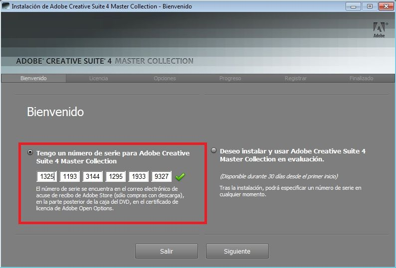 serial number master collection cs6 mac