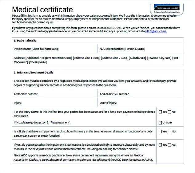 Doc Format Doctor Certificate Template Free Download  Selecting