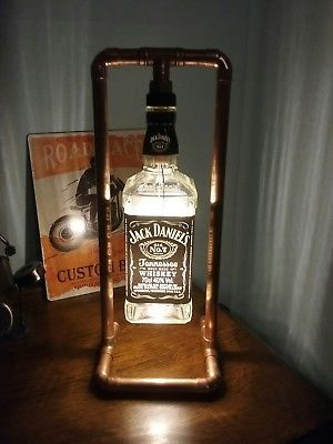 Details About Jd Steampunk Copper Bottle Lamp Table