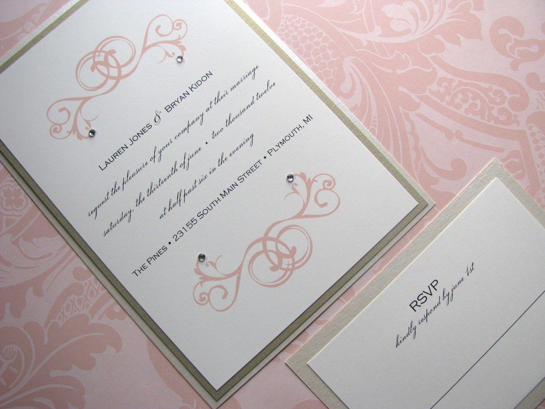 Victorian Elegant Wedding Invitation Blush By Decadentdesigns: Victorian Elegant Wedding Invitations At Reisefeber.org