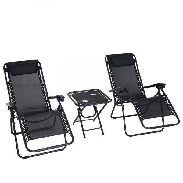 Astounding 3 Piece Black Zero Gravity Textoline Steel Frame Chairs Uwap Interior Chair Design Uwaporg