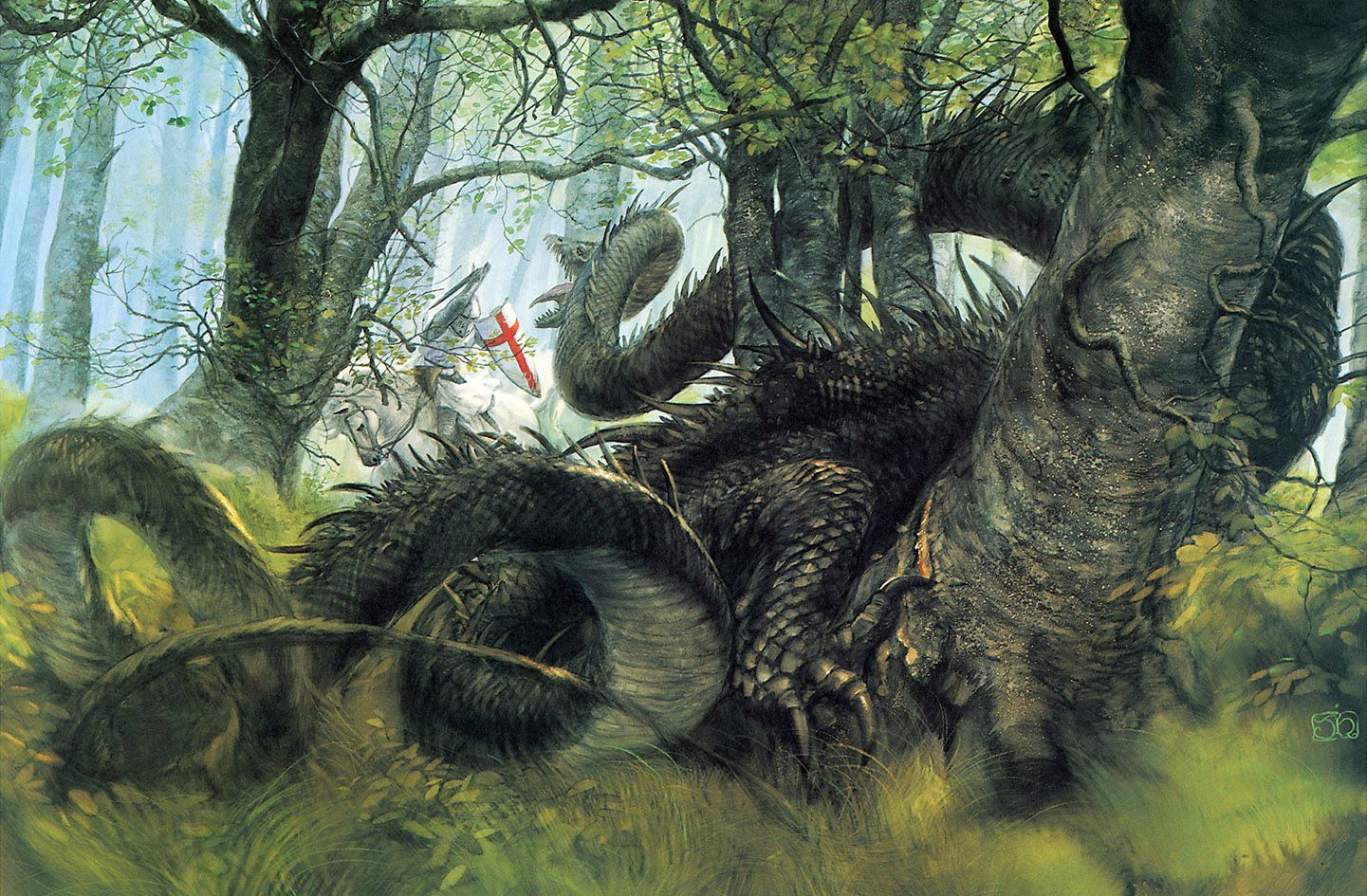 Gladius 0455 John Howe Saint George And The Dragon 1441x945