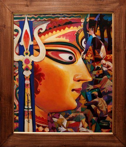 Maa Durga Oil Painting Google Search In 2019 Durga