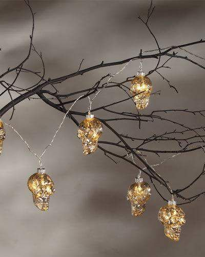 Bethany Lowe Apothecary Skull LED Garland Halloween Lights great for