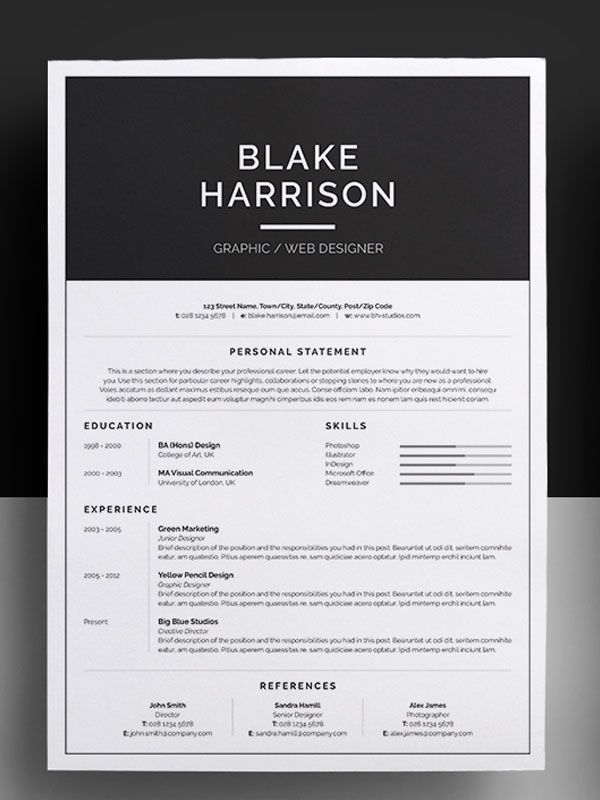 Awesome Resume Templates Examples Resumes Sample Personal