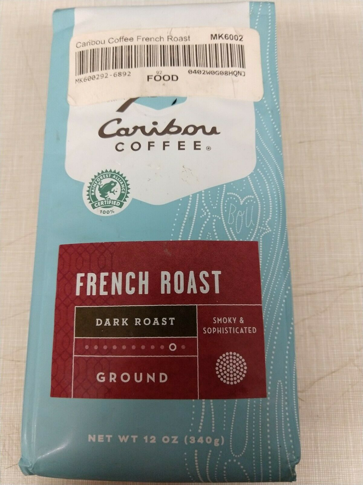 Details About 12oz Bag Caribou Coffee Dark French Roast Ground Expired Smoky Sophisticated Cup In 2020 French Roast Caribou Coffee Caribou