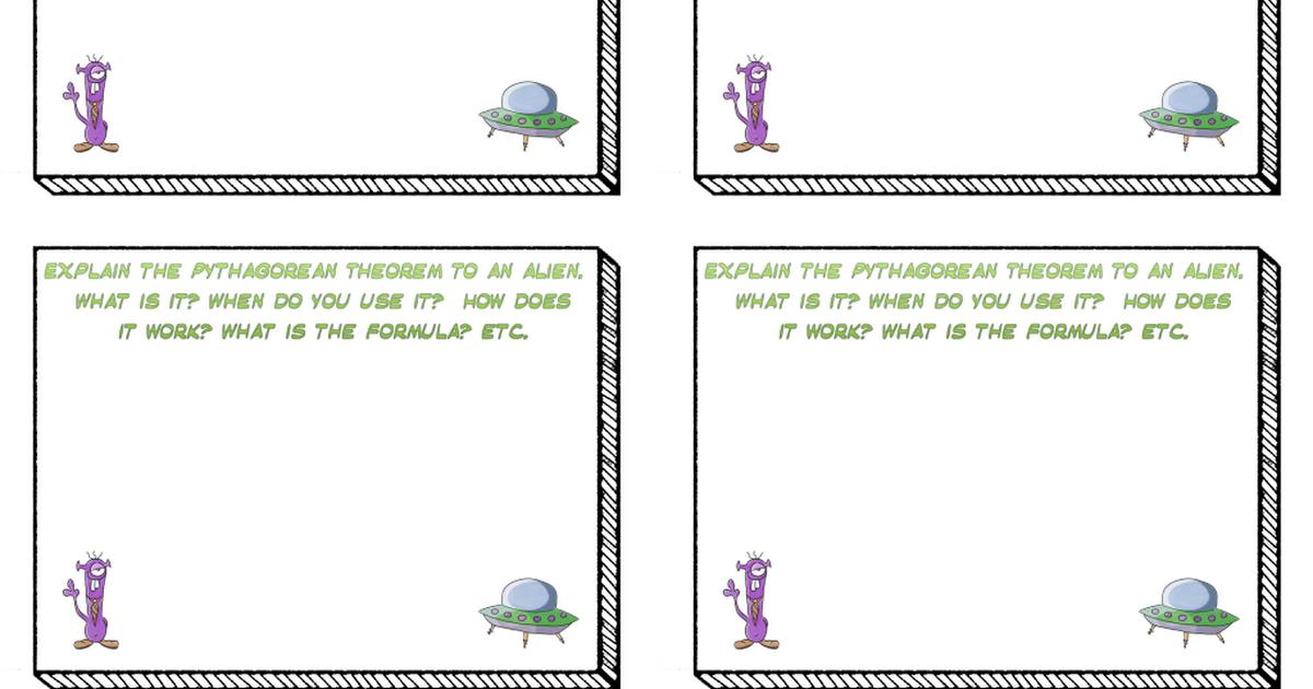 Pythagorean Theorem Closure Activities.pdf Pythagorean