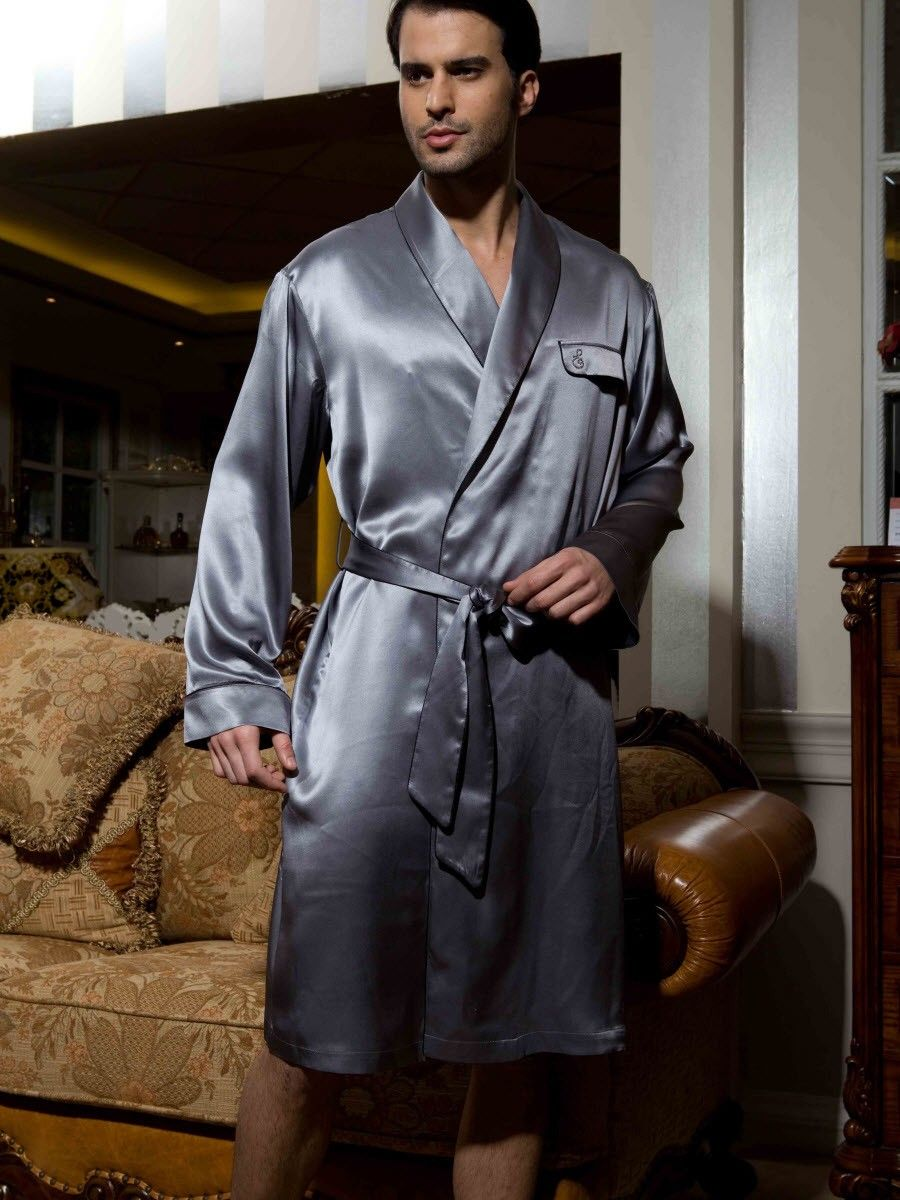 6efb9afb84e3 Robe, Silk Robes, Robes For Men, Mens silk robe | Sleep With Pure ...