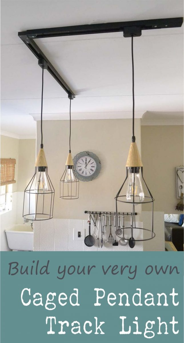 How To Diy A Caged Pendant Track Light Windmill Protea