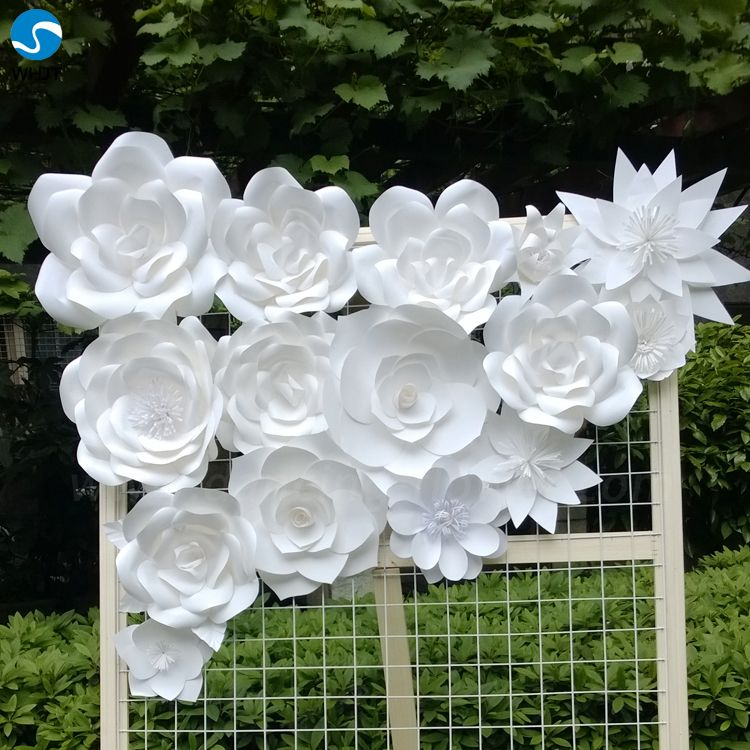 Decorative Flowers & Wreaths Type Artificail paper Wall Flower For ...