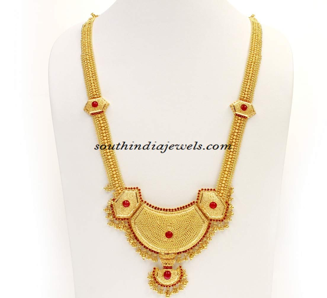 Indian Gold Jewellery Necklace Designs With Price: Kerala Jewellery : Gold Haram Design