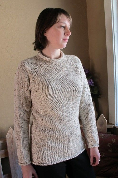 New Neckdown Pullover For Women Knitting Pure And Simple Pattern By
