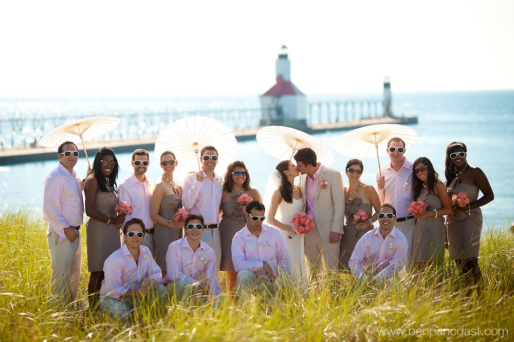 Outdoor Weddings In Michigan Allow For Trendy Attire Like Linens Parasols And Sandals