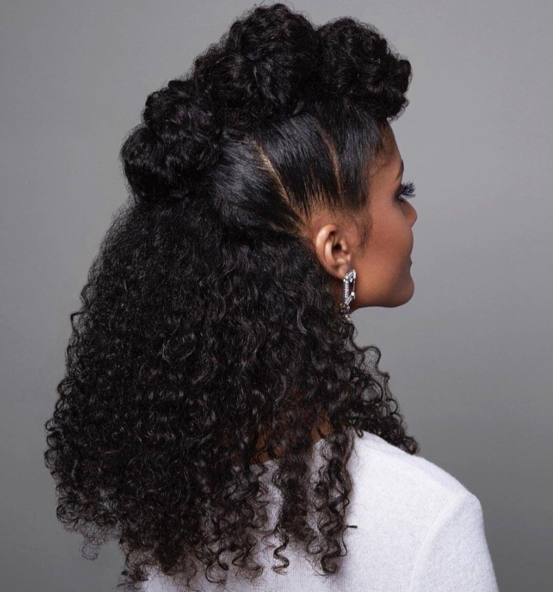 Hairinspiration Curlyhair Naturalhair Fauxhawk Summerhairstyles Longhair Hair Curly Hair Styles Hair Styles Natural Hair Styles
