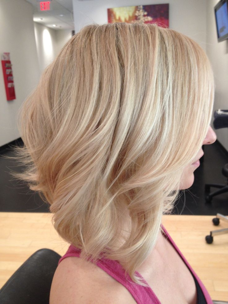 Blonde Cabello Rubio Con Mechas Peinados Pelo Mediano Pelo Con Mechas