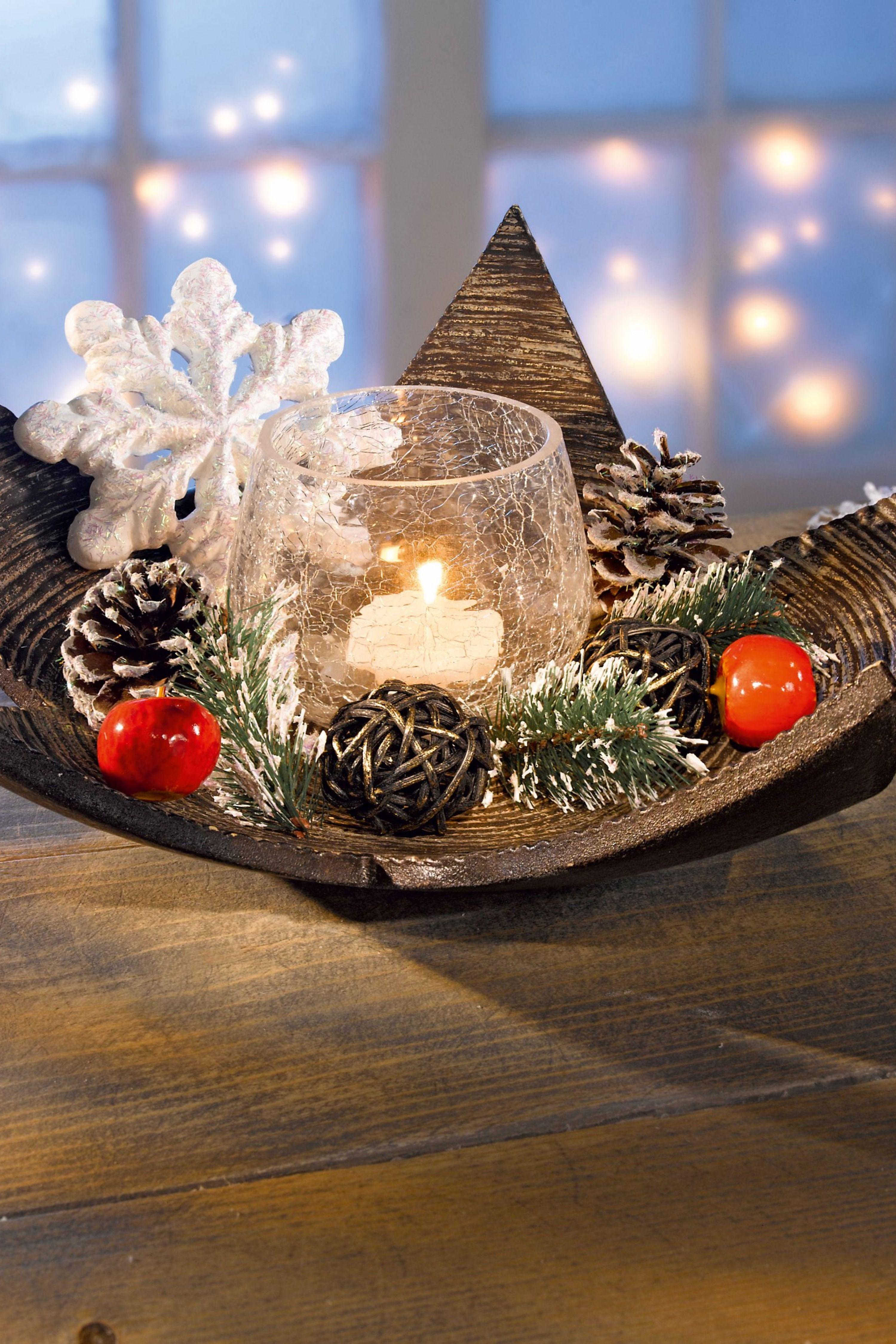 Teelichthalter-Set mit Holzstern