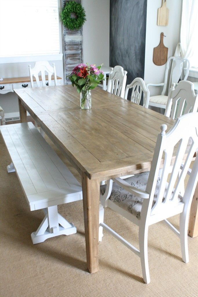 The most perfect farmhouse table with builtin butterfly