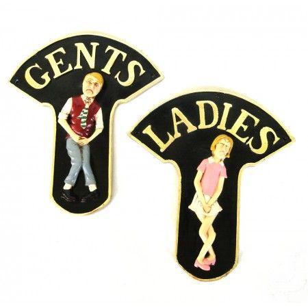 TOILET SIGNS bathroom boys girls Ladies and Gents Door Sign royal regal FUN