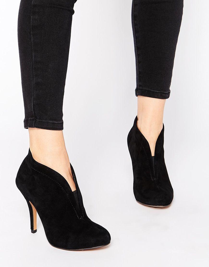 ALDO Asicilia Black Suede Heeled Shoe Boots at asos.com