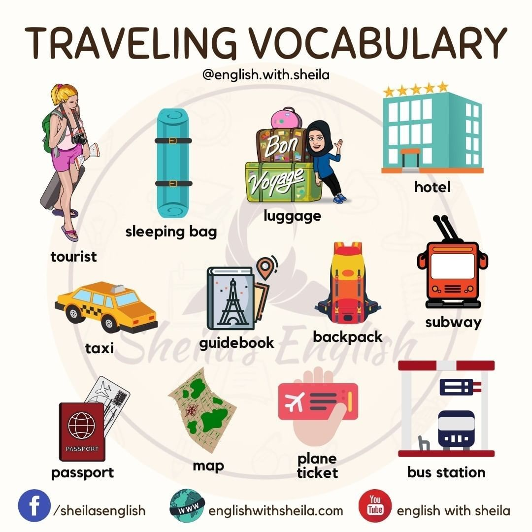 Sheila S English On Instagram Traveling Vocabulary In