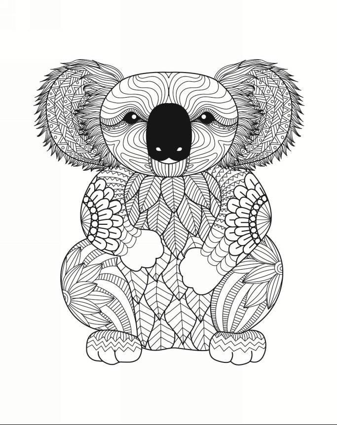 Fluffy Animal Designs 50 Adorable Fluffy Animal Patterns For Relaxation Joy Peace Of Mind An Bear Coloring Pages Animal Coloring Pages Animal Coloring Books