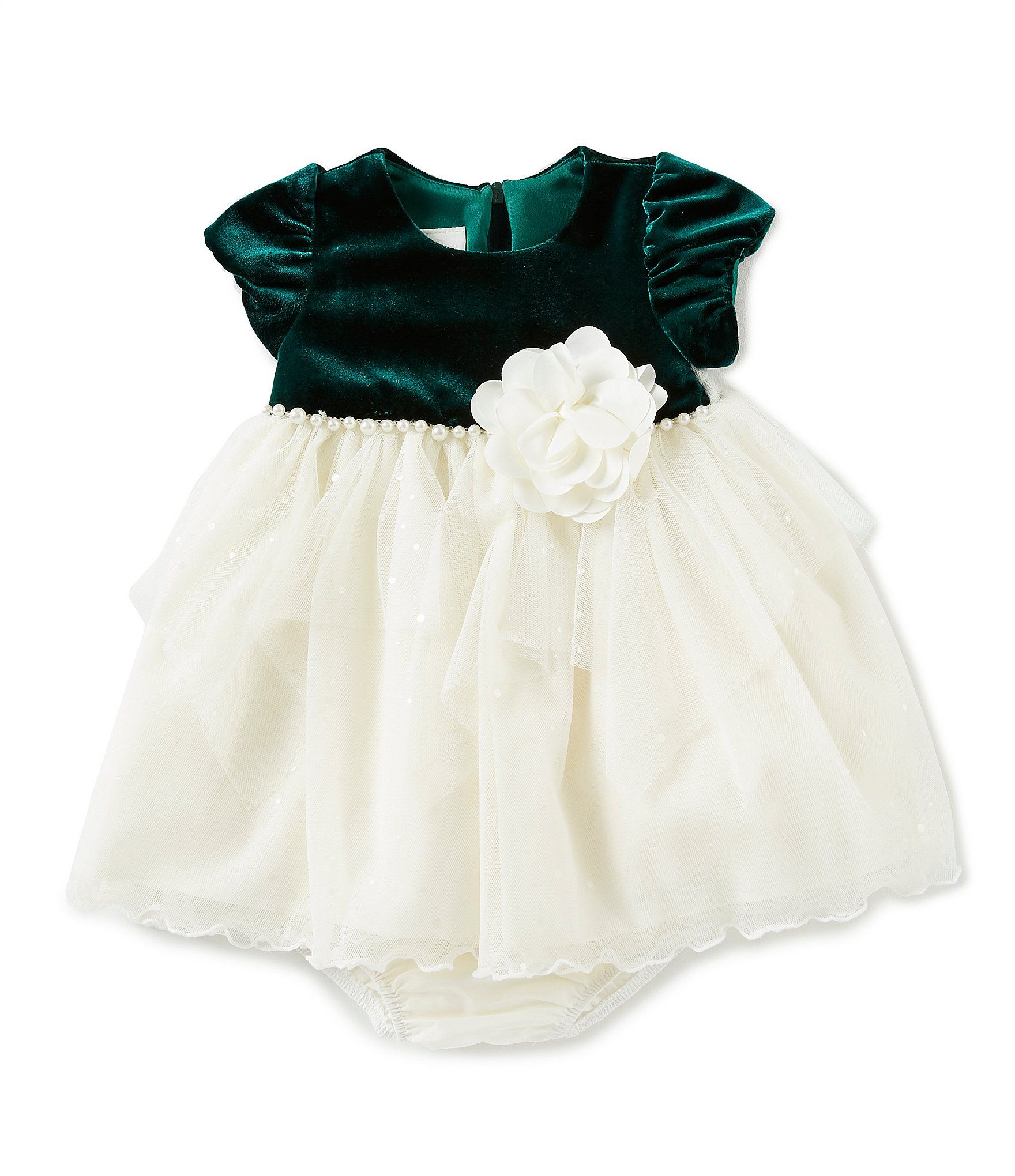 5b02d0bbe9b Shop for Bonnie Jean Baby Girls Newborn-24 Months Holiday Velvet/Mesh  Fit-And-Flare Dress at Dillards.com. Visit Dillards.com to find clothing,  accessories, ...