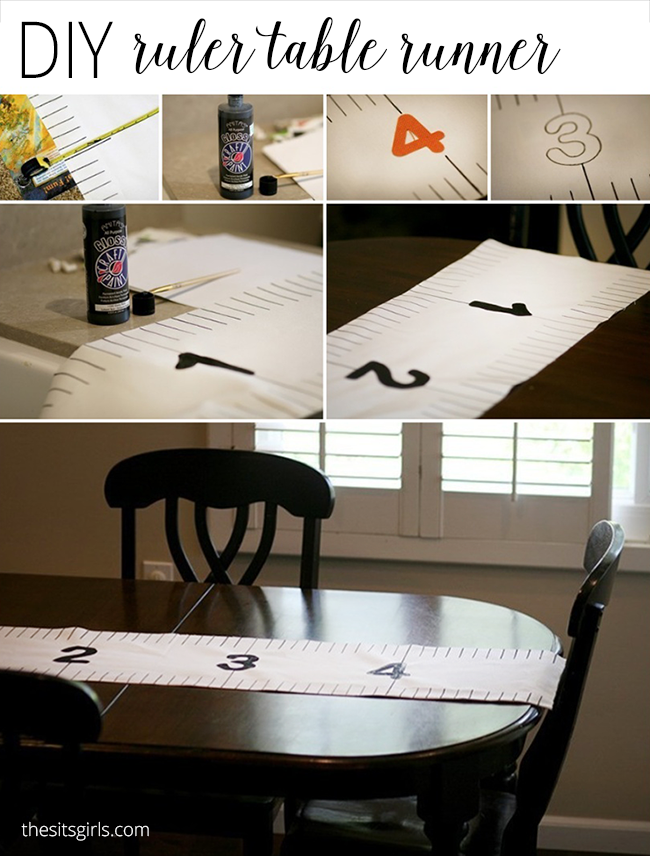 Back To School Party Decorations   DIY Ruler Table Runner