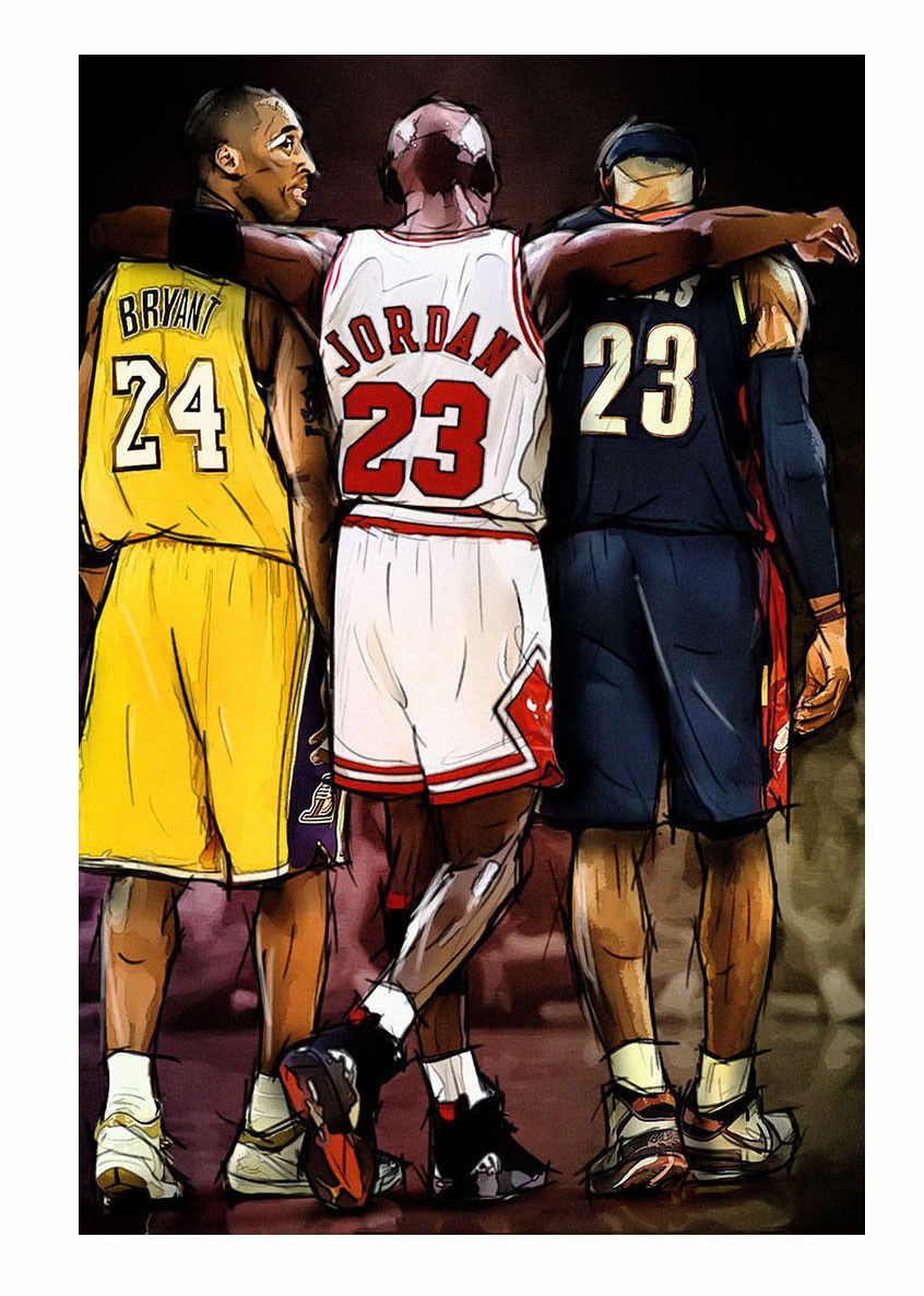 3 71 Nba Michael Jordan Kobe Bryant Lebron James 14x21 24x36