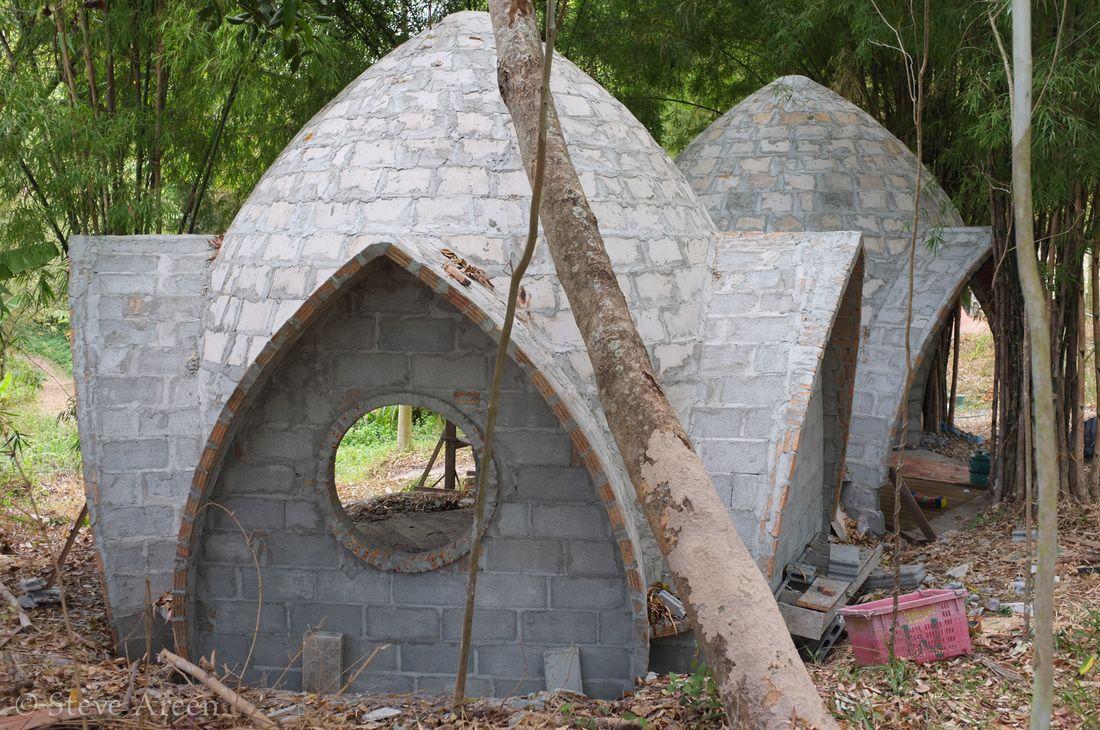 круглый дом из пеноблоков