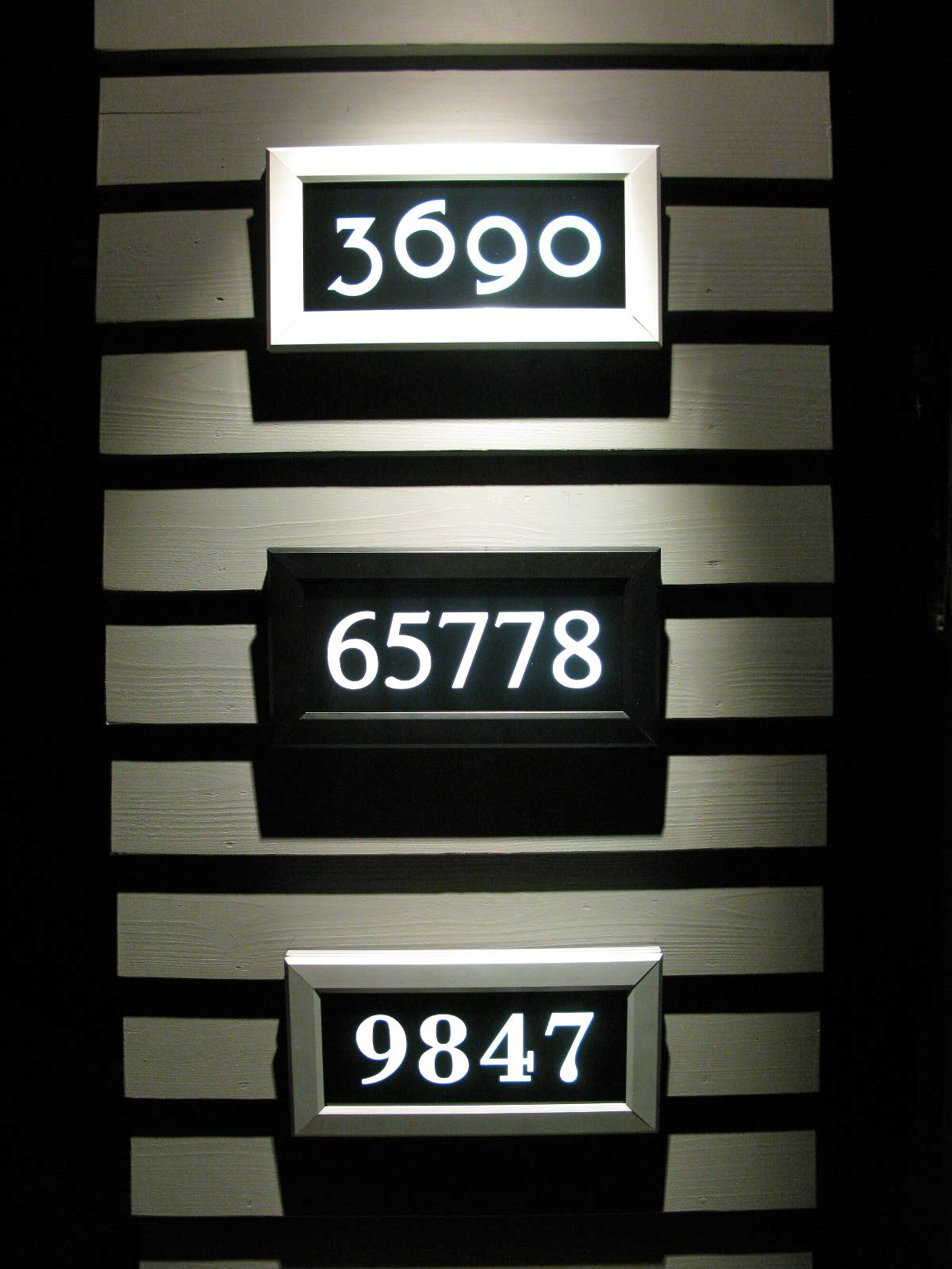 Address led offers many design options for residential and
