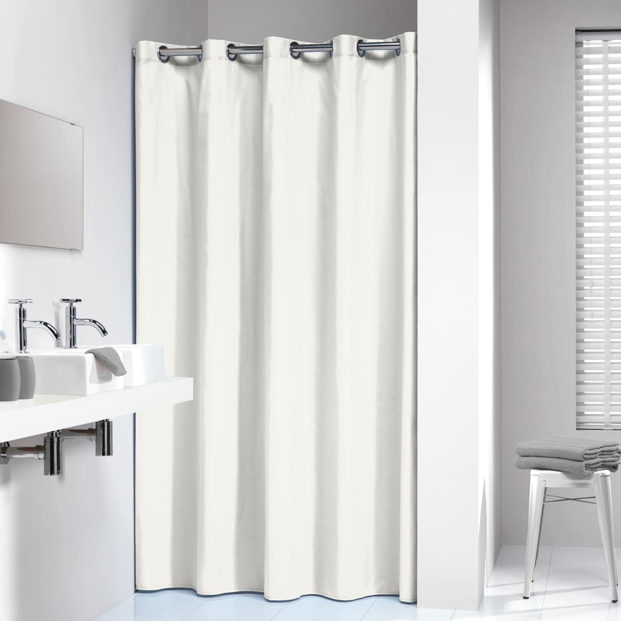 Sealskin Extra Long Hookless Shower Curtain 78 X 72 Inch Coloris