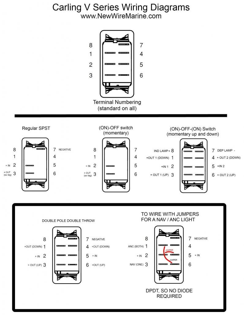 carling contura rocker switch wiring diagram