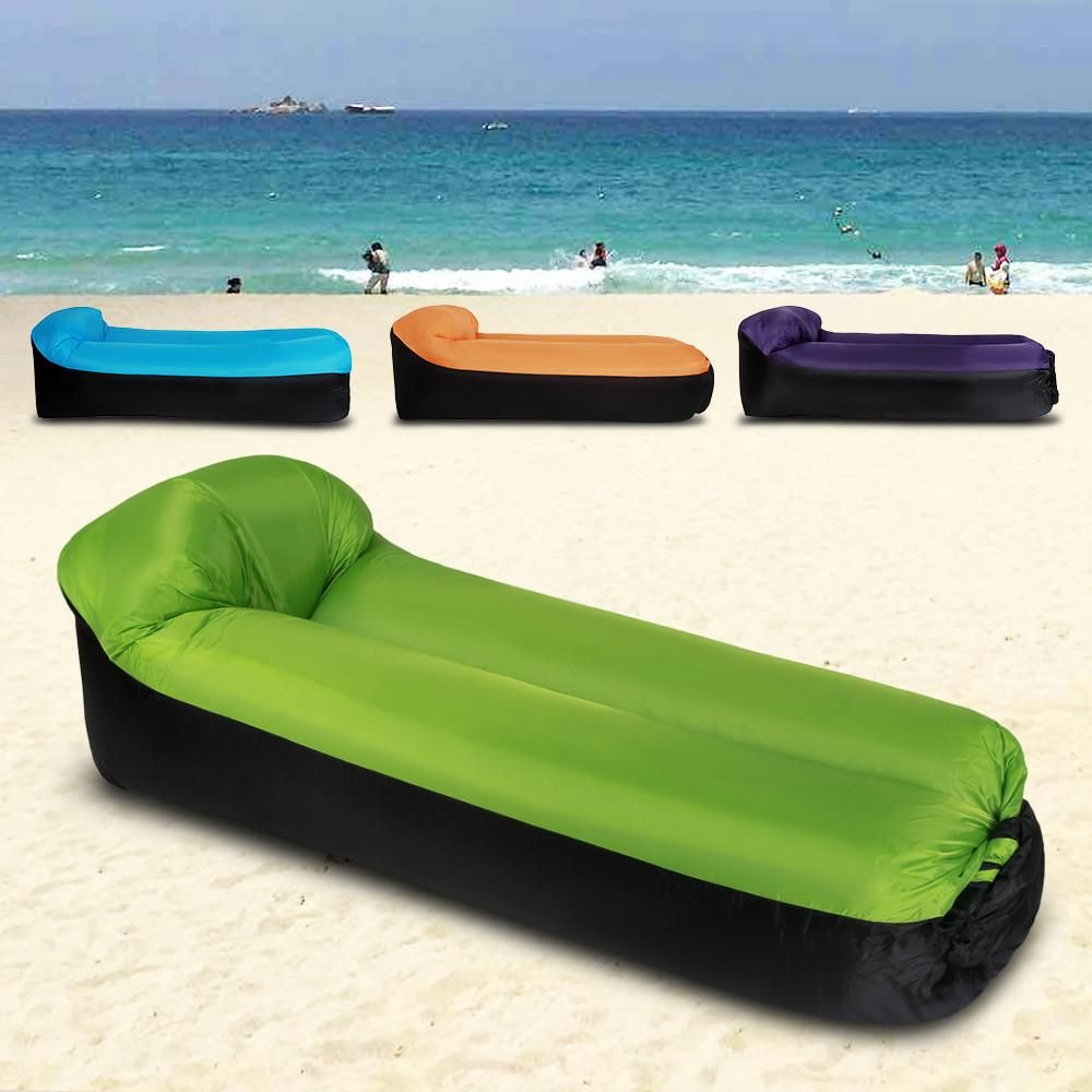 Inflatable Lounger Portable Air Beds Sleeping Sofa Beach Lounge Chair Inflatable Lounger Beach Lounge