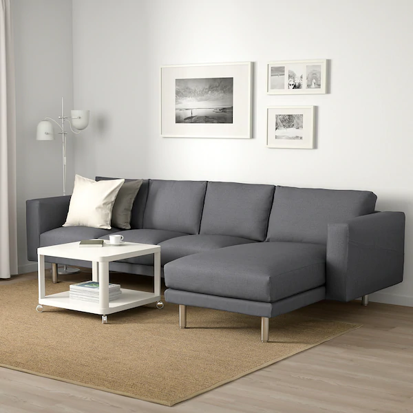 Norsborg 4 Sitzer Sofa Mit Chaiselongue Finnsta Dunkelgrau Metall Ikea En 2020