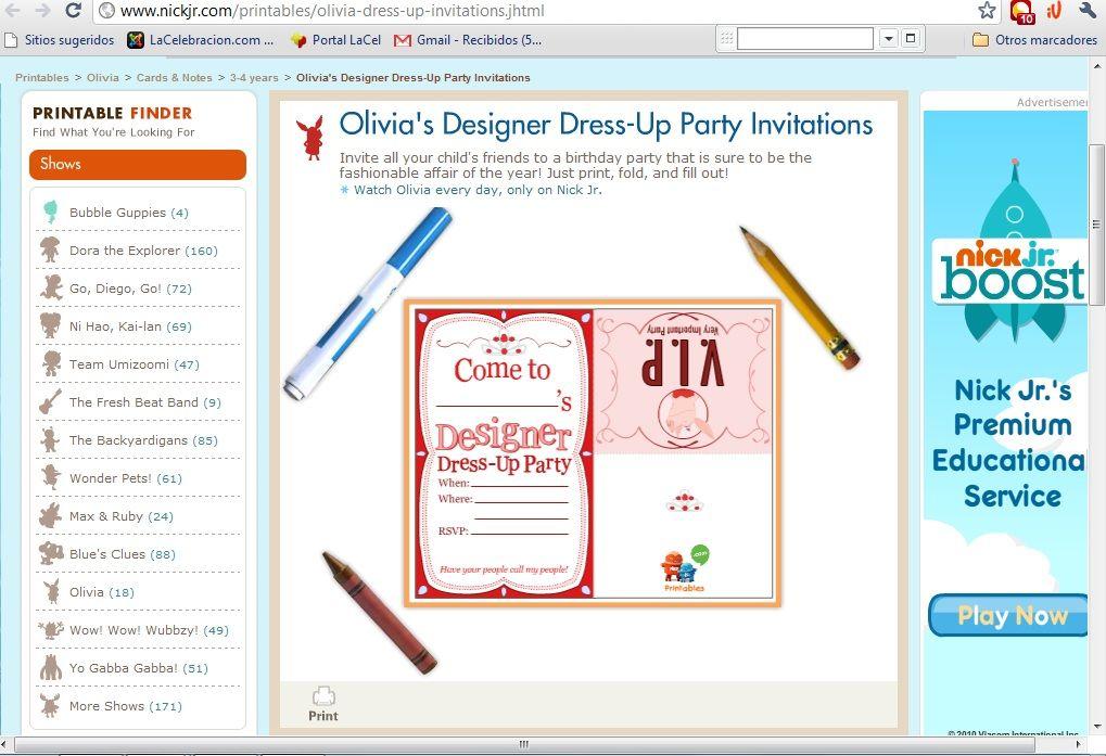 Descargar Programa Para Hacer Invitaciones Gratis Dressup Party Party Invitations Invitations