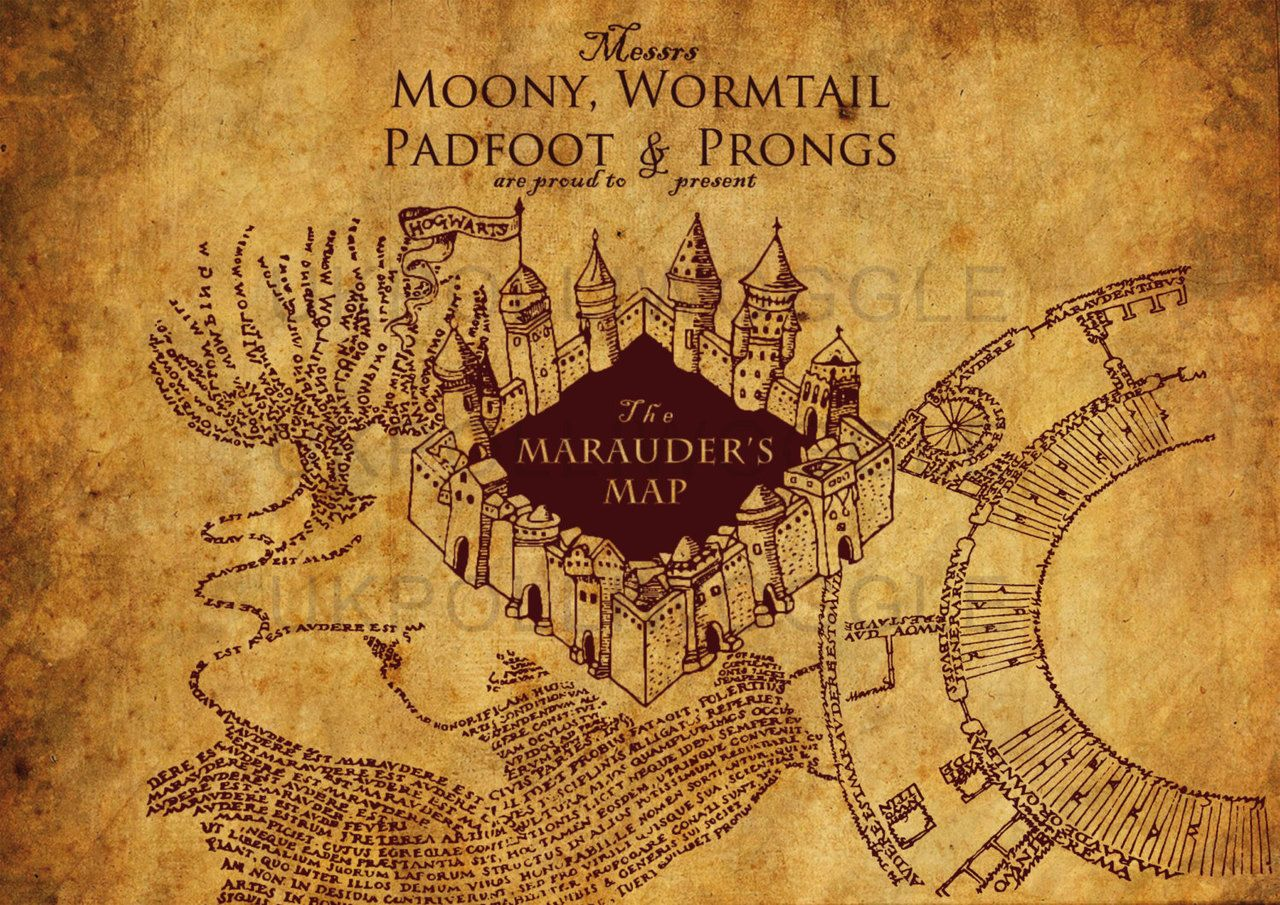 Image result for harry potter marauders map wallpaper | Harry Potter ...